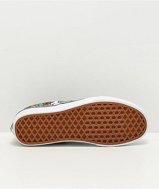 Vans Slip-On Multi Tropic & True White Skate Shoes