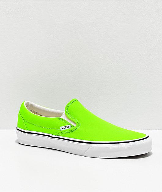 Vans Slip-On Neon Gecko Green \u0026 White