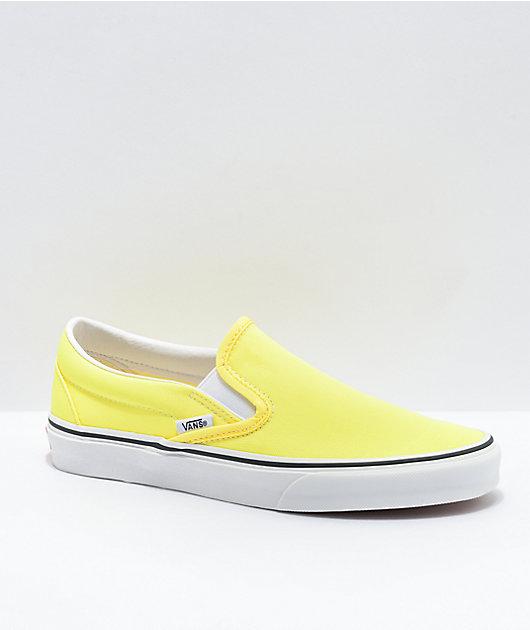 Vans Slip-On Neon Lemon Skate Shoes