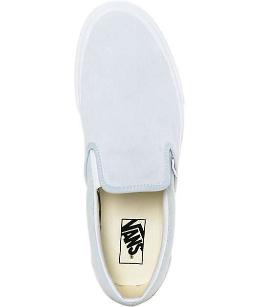 Vans Slip-On Pastel Blue Skate Shoes