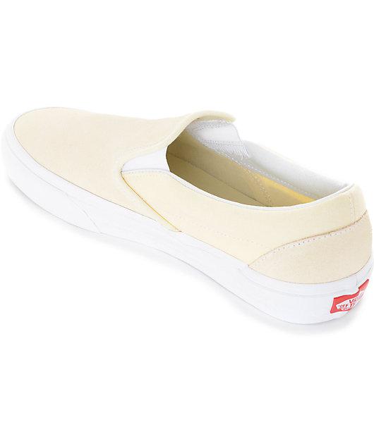 Vans Slip-On Pastel Yellow Skate Shoes