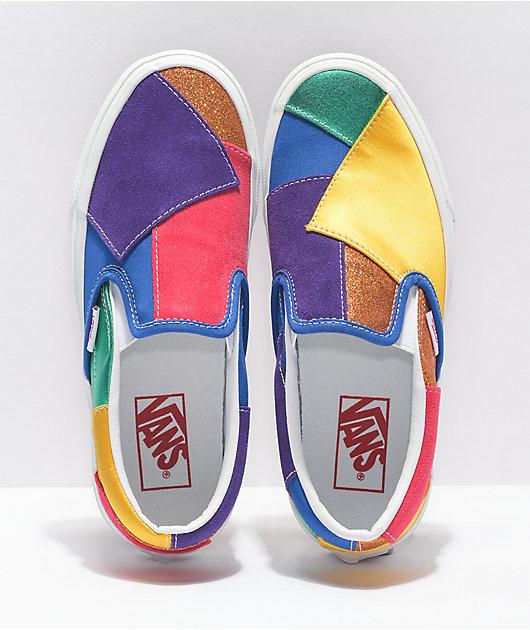 Vans Slip-On Pride Patchwork Skate Shoes