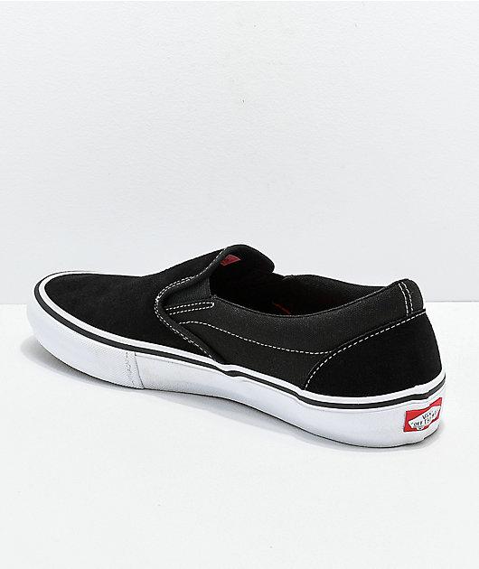 Vans Slip-On Pro Black & White Gum Skate Shoes
