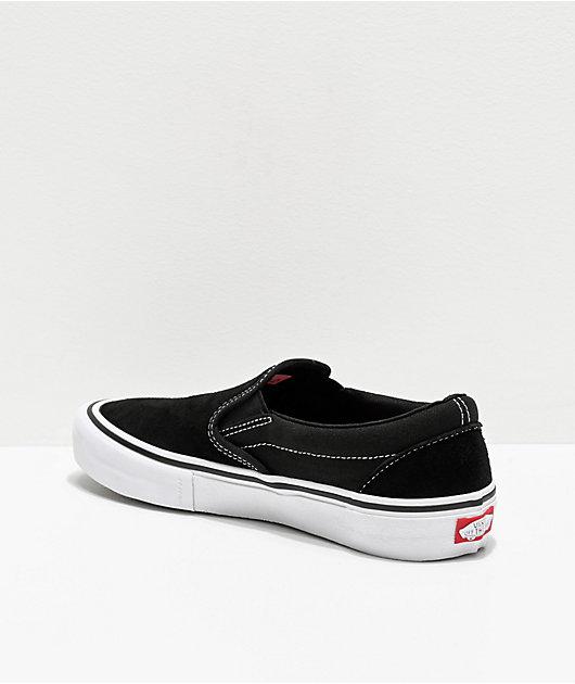 Vans Slip-On Pro Black & White Skate Shoes