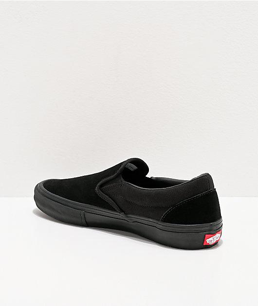 vans slip on black pro