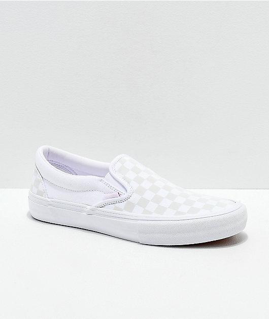 Vans Slip-On Pro zapatos de skate blancos y reflectantes