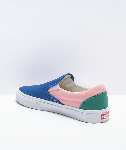 Vans Slip-On Retro Court Multi & White Skate Shoes