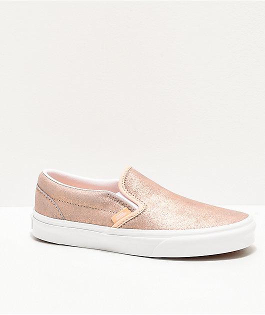 Vans Slip-On Rose Gold Skate Shoes | Zumiez