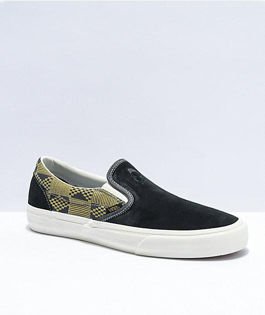 Vans Slip-On SF Black & Military Skate Shoes
