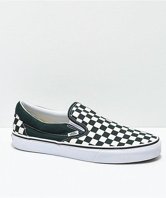 Vans Slip-On Scarab Green \u0026 White
