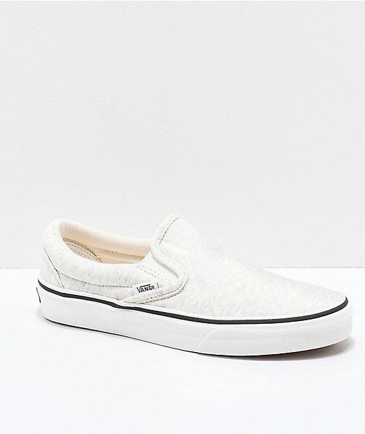 Vans Slip-On Snow White Jersey Knit