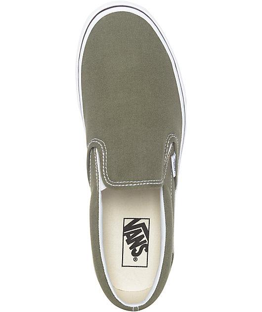 Vans Slip-On Winter Moss Green \u0026 White