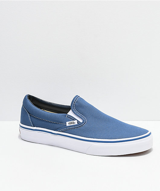 Vans Slip-On zapatos de skate azul marino
