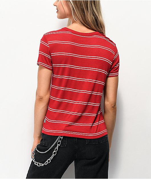 Vans Spacey camiseta roja y blanca de rayas