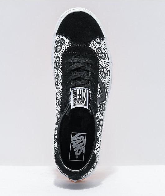 Vans Sport Dia De Los Muertos Black & White Skate Shoes