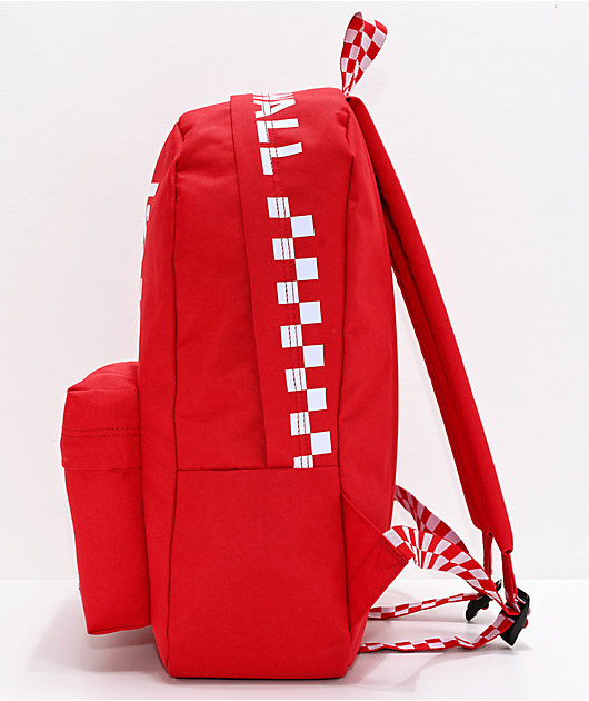 Vans Sporty Realm Red & Checkerboard Backpack