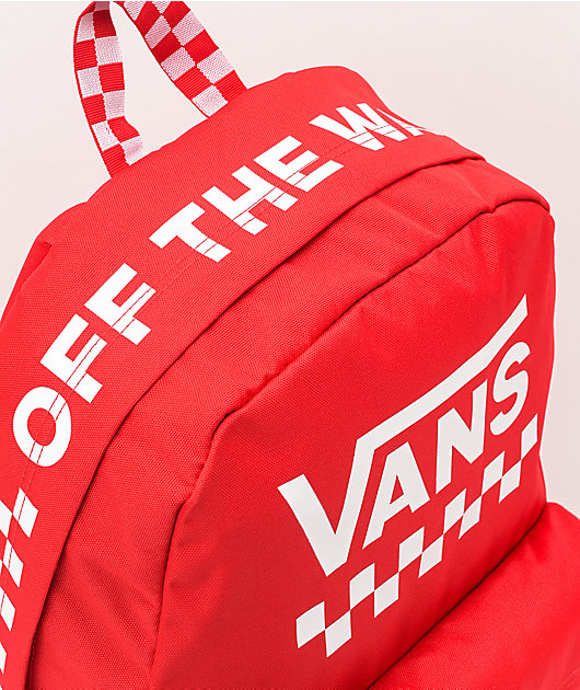 Vans Sporty Realm Red Checkerboard Backpack