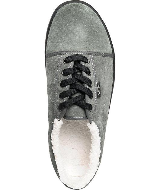 Vans Srpls Charcoal Fleece Lined Skate Shoes   Zumiez