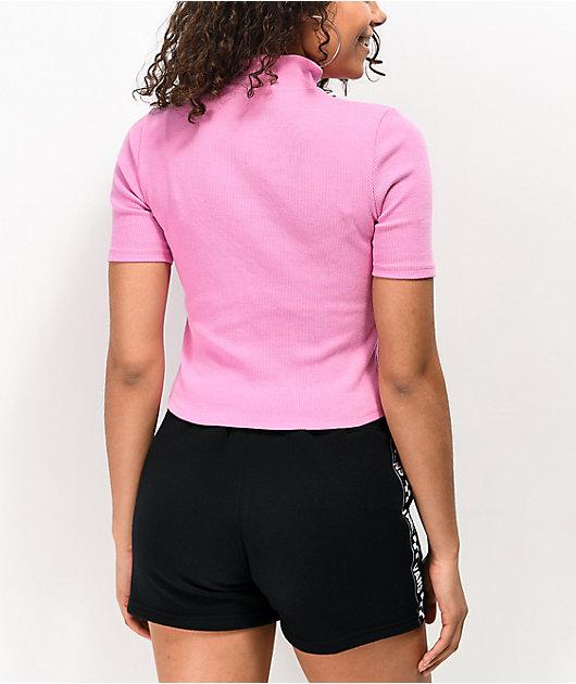 Vans Studio Fuchsia Crop Polo Shirt