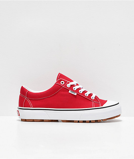 Vans Style 29 Racing Red & White Shoes