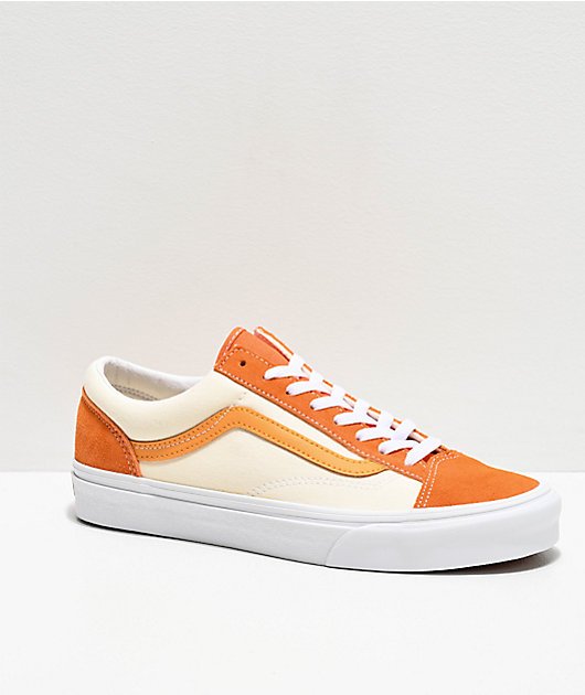 Vans Style 36 Retro Amberglow Gold Skate Shoes