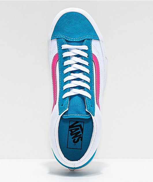 Vans Style 36 Retro Sport Caribbean Sea & True White Skate Shoes