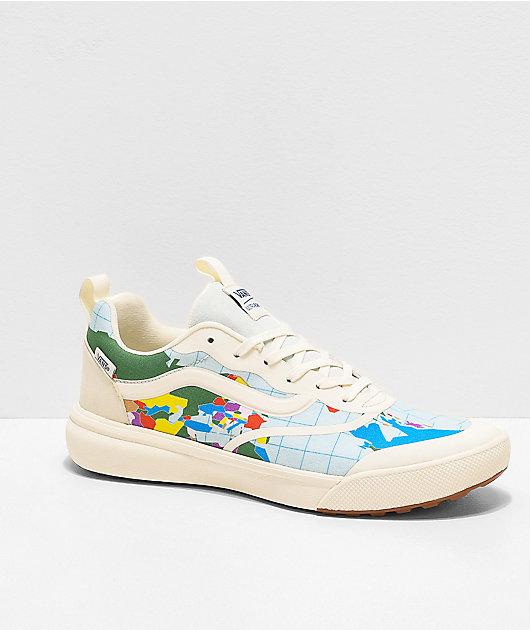 Vans UltraRange Rapidweld Save Our Planet Marshmallow & Multicolor Shoes