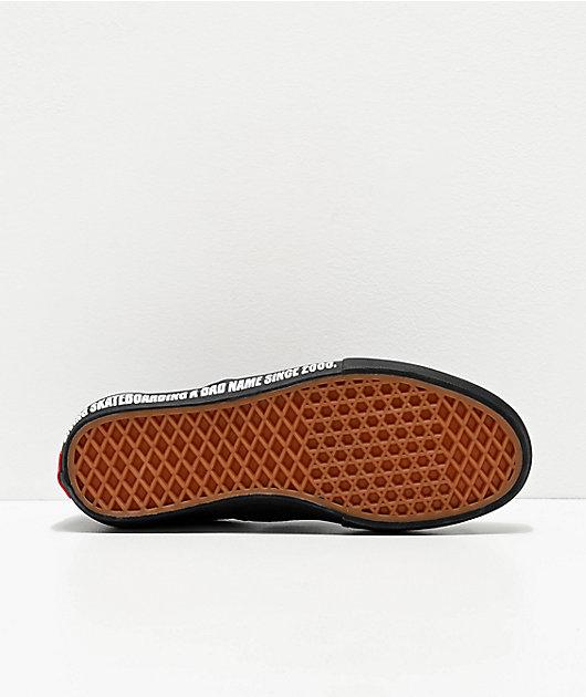 Vans X Baker Slip-On Pro Black & Red Skate Shoes