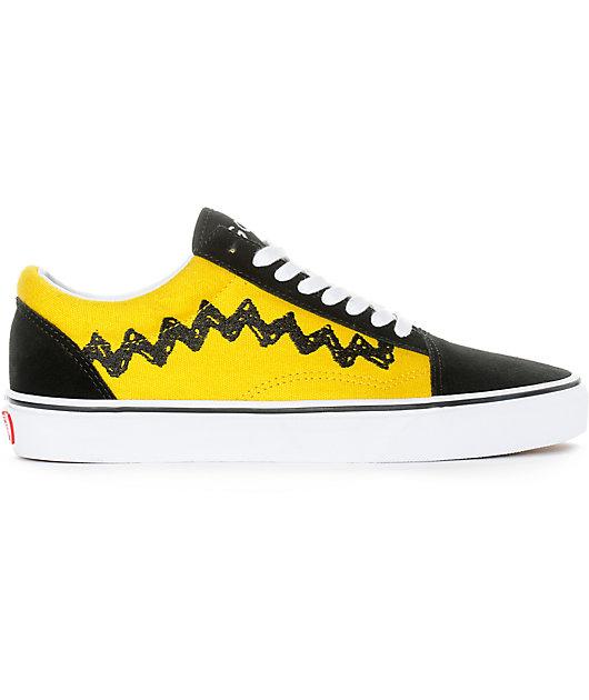 Vans X Peanuts Old Skool Charlie Brown Skate Shoe