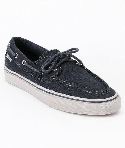 Vans Zapato Del Barco Ebony \u0026 Ice Grey