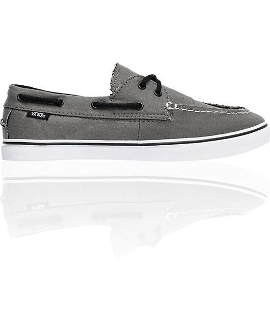 Vans Zapato Lo Pro Pewter Grey Boat Shoes | Zumiez
