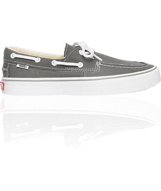 Vans Zapato del Barco Pewter & White Skate Shoes   Zumiez