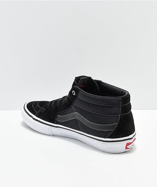 Vans x Anti-Hero Grosso Sk8-Mid Pro Black Skate Shoes