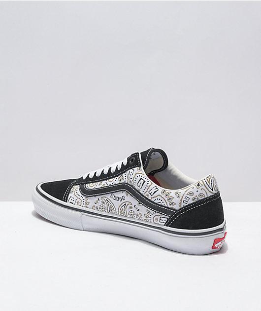 Vans x Baker Skate Old Skool Black & White Skate Shoes