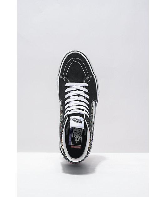 Vans x Baker Skate Sk8-Hi Bandana Black Skate Shoes