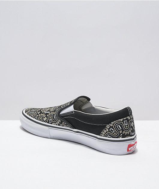 Vans x Baker Skate Slip-On Bandana Black Skate Shoes