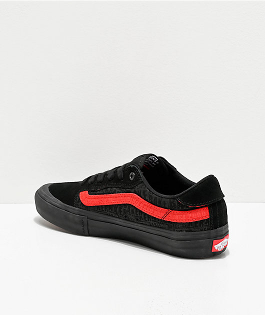 Vans x Baker Style 112 Pro Black & Red Skate Shoes