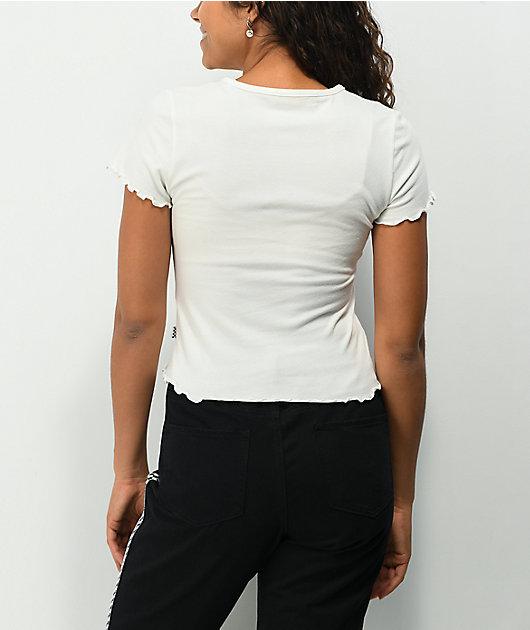 Vans x Brighton Zeuner Flower White Lettuce Edge T-Shirt