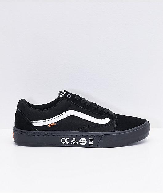 Vans x Cult Old Skool Pro BMX Black & White Skate Shoes
