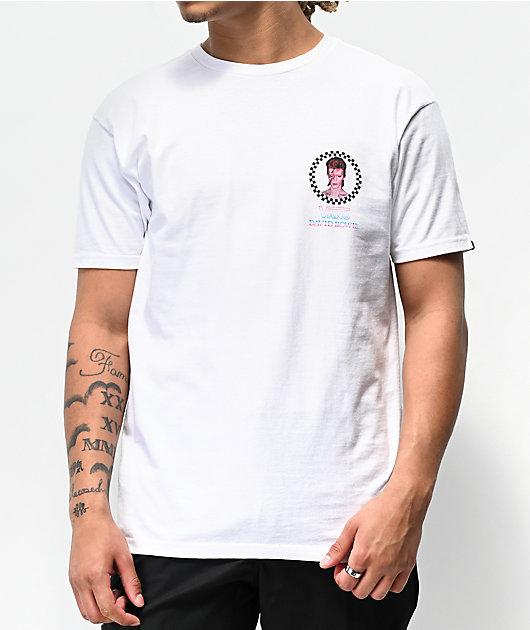Vans x David Bowie Aladdin Sane White T-Shirt