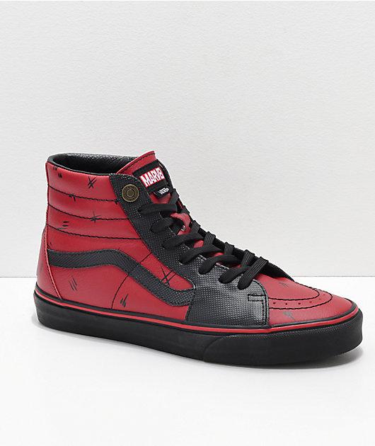 Vans x Marvel Sk8-Hi Deadpool Red