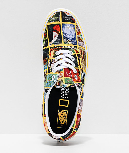 Vans x National Geographic Era Multi Covers & True White Skate Shoes