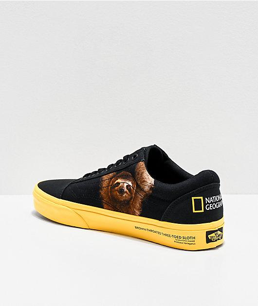 Vans x National Geographic Old Skool Black & Yellow Skate Shoes