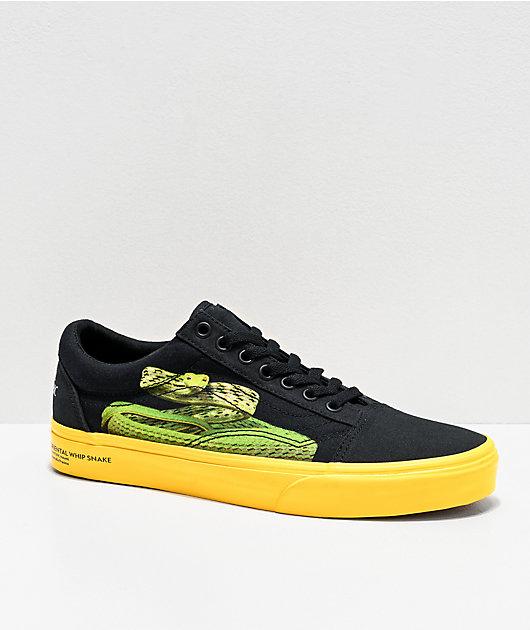 Vans x National Geographic Old Skool zapatos de skate negros y amarillos
