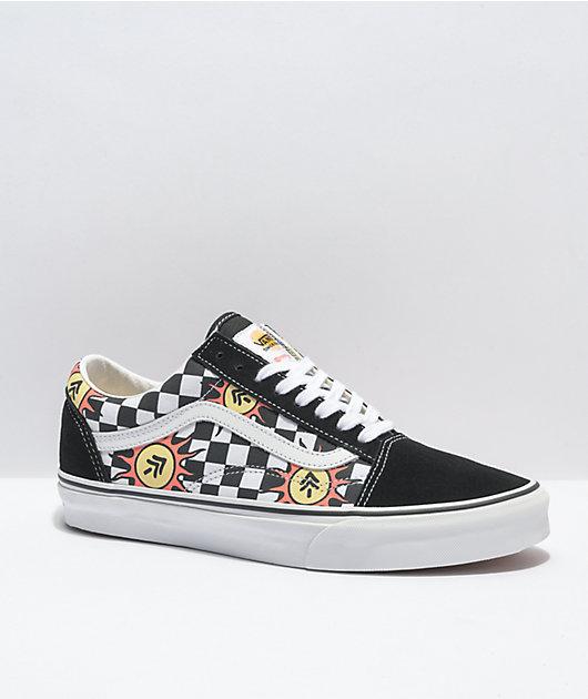 Vans x Parks Project Old Skool Black & White Skate Shoes