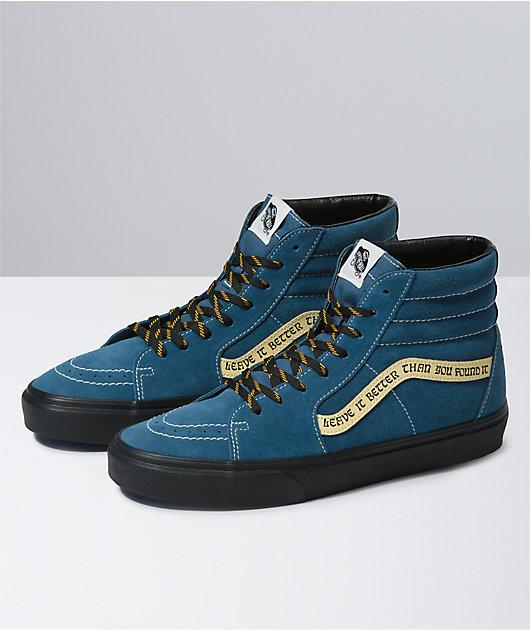 Vans x Parks Project Sk8-Hi Blue & Black Skate Shoes