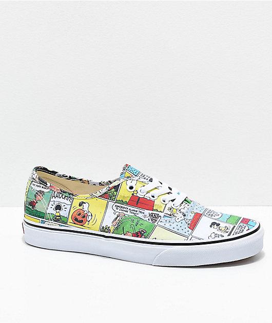 Vans x Peanuts Authentic Comics Skate Shoes