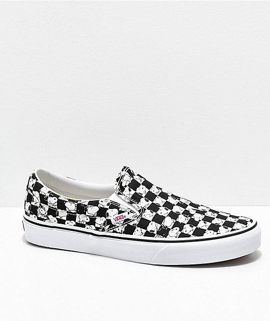 Vans x Peanuts Slip-On Snoopy Checkered