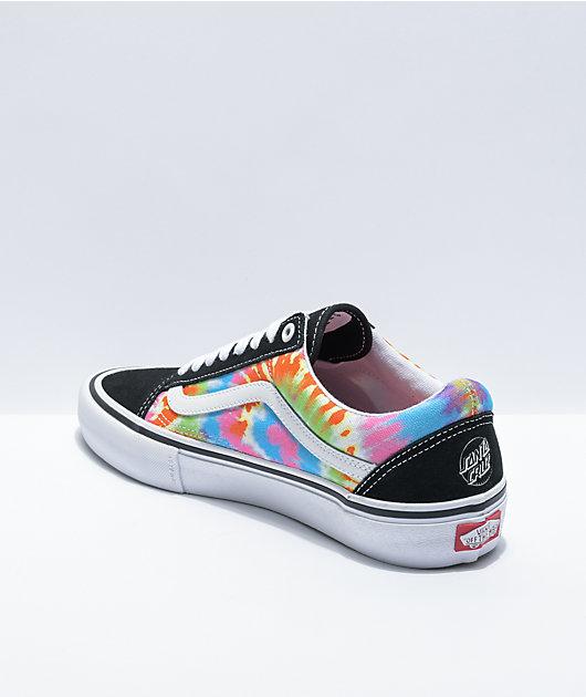 Vans x Santa Cruz Old Skool Pro Tie Dye Skate Shoes