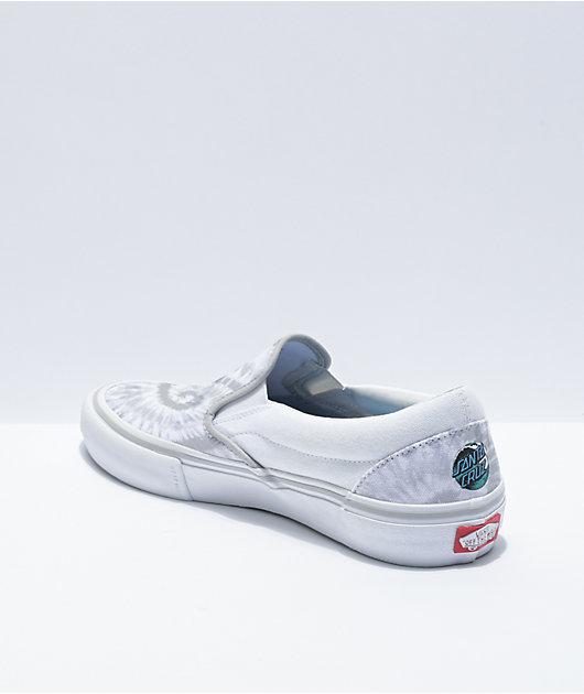 Vans x Santa Cruz Slip-On Pro White Skate Shoes